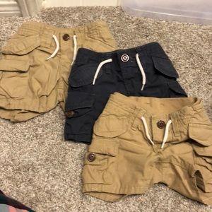 Gap baby shorts 0-3m, 3-6M and 12-18M